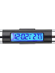 lcd del coche caliente retroiluminación termómetro digital automotriz calendario reloj