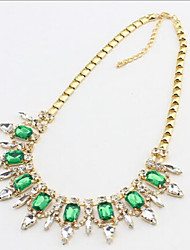 New Arrival Fashion Jewelry Rhinestone Crystal Luxury Gem Necklace