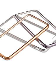 Для Кейс для iPhone 6 / Кейс для iPhone 6 Plus Покрытие / Прозрачный Кейс для Задняя крышка Кейс для Один цвет Мягкий TPUiPhone 6s Plus/6