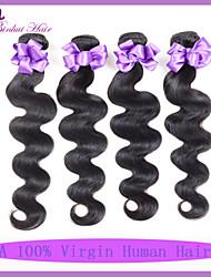 7а Малайзии тело волна 3шт / много Малайзии волн девственница теле лучше человеческие волосы плести пучки