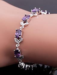aaa calidad superior circón brazalete de joyería fina, elegante púrpura