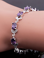 Top-Qualität aaa Zirkon Armband edlen Schmuck, elegante lila