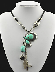 Vintage Look Antique Silver Plated Butterfly Cz Turquoise Stone Necklace Pendant(1PC)