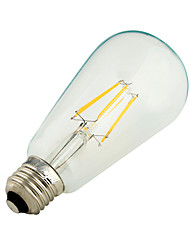 E27 ST64 6W COB Filament Energy Saving Incandescent Bulb Retro Edison Light Bulb AC 85-265V/220V