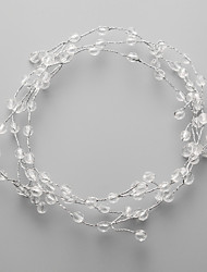 Women's / Flower Girl's Crystal / Alloy Headpiece-Wedding / Special Occasion Headbands 1 Piece Clear
