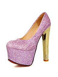 Calçados Femininos - Saltos - Saltos - Salto Agulha - Preto / Roxo / Vermelho / Bege - PVC / Courino -Casamento / Escritório & Trabalho /
