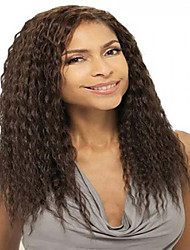 European  Women Lady  Natural  Color Long Kinky Straight  Syntheic  Wig Extensions