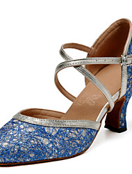 Non Customizable Women's Dance Shoes Latin / Jazz / Modern / Swing Shoes / Salsa / Flamenco / SambaSatin / Leatherette