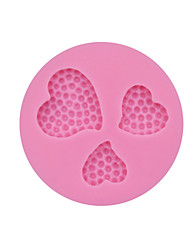3 Holes Sweet Love Valentine Fondant Cake Mould for Decorating Molds Silicone Chocolated Mold Kitchen Accessories SM-180