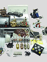 6 Guns BaseKey Tattoo Kit K604 Machine With Power Supply Grips Cups Needles(Ink not included)