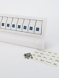 iztoss морской катер водонепроницаемый белый коммутационной панели выключателя 8 банда синий индикатор рокер