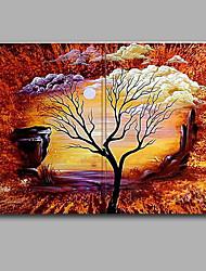 Современный дерево пейзаж дерево доставка бесплатно Группа ручной картина маслом