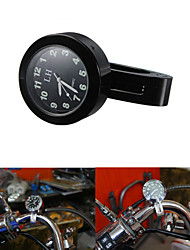 "Motor Motorbike Handlebar Mount Clock Analog 7/8""1"" For Harlry Black Waterproof"