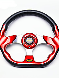 New Universal 320mm 13 Inch Car Auto Momo Modified PU Material Automobile Race Steering Wheel with Horn Button