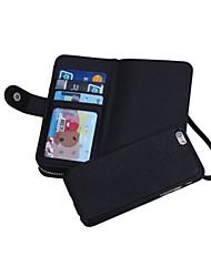 conception spéciale des cas de haute qualité étui en cuir portefeuille complet du corps avec Stand pour iPhone 6 plus