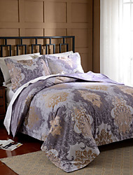 Simple Opulence Duvet Cover Set Polyester luxury Printed Royal Purple Include Quilt Cover Pillow Cases Queen King