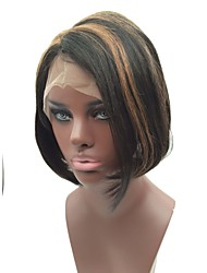 Full Lace Bob Wig With 100% Remy Hair 8 Inch 1b/30#