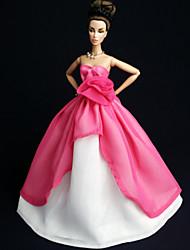 Fiesta y Noche Vestidos por Muñeca Barbie Rojo Vestidos