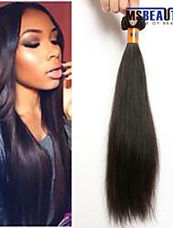 """1 pc / lot 12 """"-22"""" 8a malaysisches reines Haar gerade Menschenhaareinschlagfäden 100% unverarbeitetes malaysischer remy Haar spinnt"""