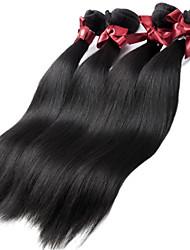 Перуанские прямые волосы девственные 4 пучки 1b Перу шелковистые прямые волосы Remy расширения человеческих волос ткачество пучки