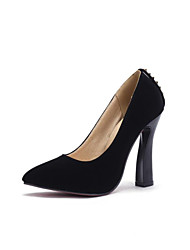 Women's Shoes PVC / Leatherette Chunky Heel Heels Heels Wedding / Office & Career / Dress / Casual Black / Blue / Red