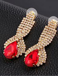 Earring Drop Earrings Jewelry Women Gemstone & Crystal / Alloy / Cubic Zirconia 2pcs Silver