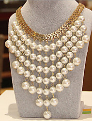 New Arrival Fashion Jewelry Luxury Popular Pearl Tassel Necklace