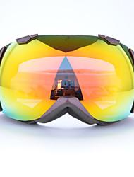 Basto marco púrpura sensores amarilla gafas de nieve del esquí
