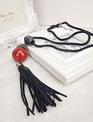 New Arrival Fashion Jewelry Hot Selling Red Pearl Tassel Necklace