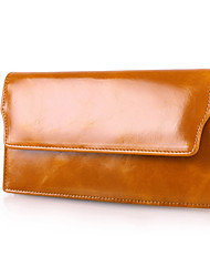 Women 's Oil Wax  Genuine Leather Oil Wax Clutches Wallet Fashion Multi Card Handbag wallet