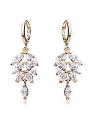 Jewelry Earrings For Teen Girls Gold Plated Women Wedding Crystal CZ Diamond Bridal Holiday Earring Accessories