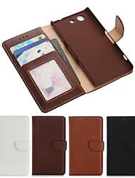 cuir PU cas de tout le corps avec fente pour carte et le portefeuille et d'éligibilité aux sony xperia Z3 compacte / Z3 mini-