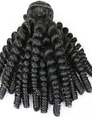 3pcs / lot 100% brasileira tramas do cabelo virgem tia cabelo Funmi trama primavera enrolar o cabelo cor natural saltitante cachos tece