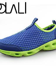 Черный / Синий / Серый-Мужской-Для прогулок / На каждый день / Для занятий спортом-Тюль / Ткань-На плоской подошве-Удобная обувь / С
