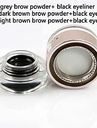 Lápis de Olho Bálsamo Molhado Impermeável / Natural / Secagem Rápida Preta Olhos 1 1 Others