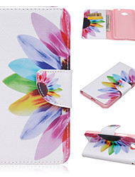 For Nokia Case Wallet / Card Holder / with Stand Case Full Body Case Flower Hard PU Leather Nokia Lumia 550