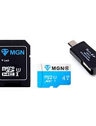 tf tarjeta microsdhc 4gb mgn original de memoria flash con adaptador SD SDHC y USB&OTG dos en un lector de tarjetas