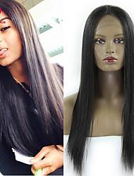 2015 Fashion 18Inch Peruvian Human Hair Wig Silk Straight Natural Color Full Lace Wig