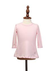 Girl's Pink / Red / Gray Tee,Ruffle Cotton All Seasons