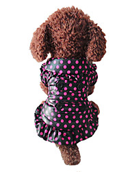 Dog Coat Multicolored Winter Polka Dots Wedding / Holiday / Keep Warm / Fashion / Birthday / Christmas