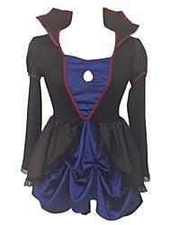 Costumes de Cosplay Costume de Soirée Princesse Conte de Fée Fête / Célébration Déguisement d'Halloween Noir Bleu Couleur Pleine Robe