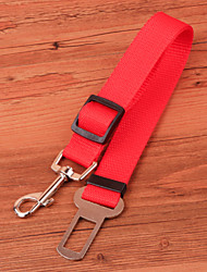Dog Leash Adjustable/Retractable / For Car / Safety Red / Black / Blue Nylon