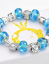 Women Gift Strand Beads Bracelets Beads Glass Beads Charm Bracelets & Bangles 925 Silver European beads BLH001