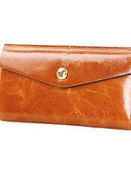 Clutch / Portefeuille / Kaart/pasjeshouder / Grote portemonnee / Mobile Phone Bag - 3-vouwen - Blauw / Geel / Bruin / Rood / Zwart -
