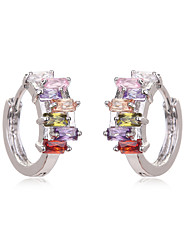 CZ Diamond Earrings For Women Crystal Teen Girls Gold Plated Wedding Bridal Holiday Fashion Earring Accessories