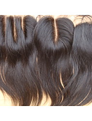7A Closure Brazilian Virgin Hair Straight Free Part /Middle Part/3 Part Unprocessed Human Hair Weave Closures