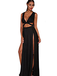 Women's Cut Out Jersey Craving Maxi Sexy Dress