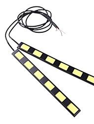 2pcs 18cm 12w épi 6 LED voiture diurne barre lumineuse DRL Lampe de conduire (DC12V)