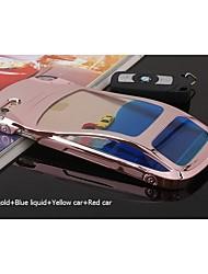 liquide bleu sanlead + voiture rouge + jaune pc de voiture avec liquide avec de flottaison retour cas pour iphone6,6s (couleurs assorties)