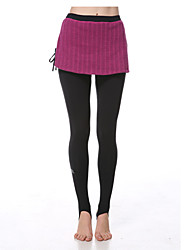 Yokaland Elegant Slim Fit Stirrup Legging  On Skirt
